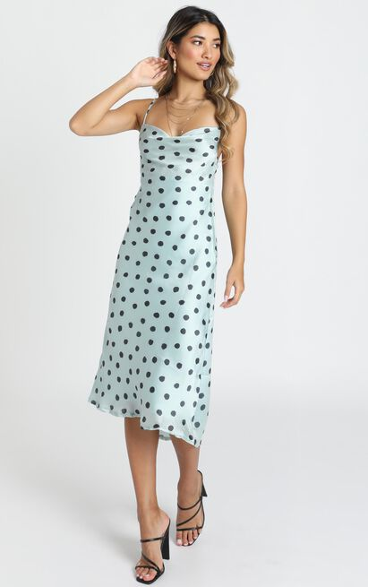Quest To You dress in blue spot - 12 (L), Blue, hi-res image number null