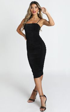 Commit To Me Maxi Dress In Black