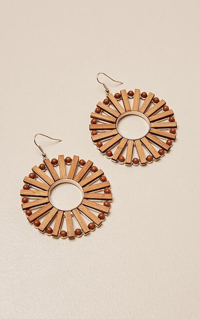 Stereo Hearts earrings in sand, , hi-res image number null