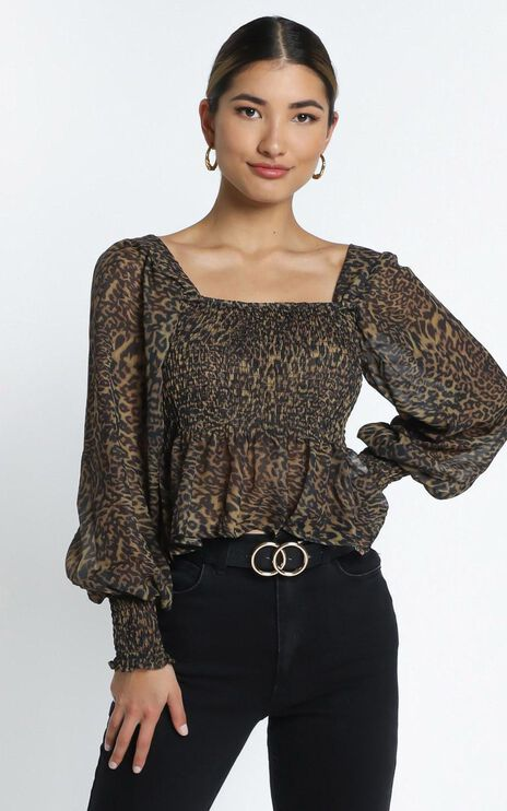 Reeve Top in Leopard