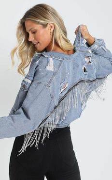 Katja Jacket in Mid Blue Wash