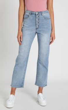 Becky Jeans In Bright Blue Wash