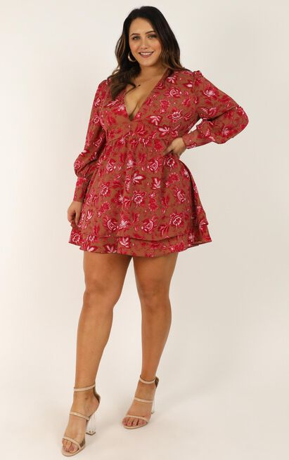 I got my reasons dress in pink print - 20 (XXXXL), Pink, hi-res image number null