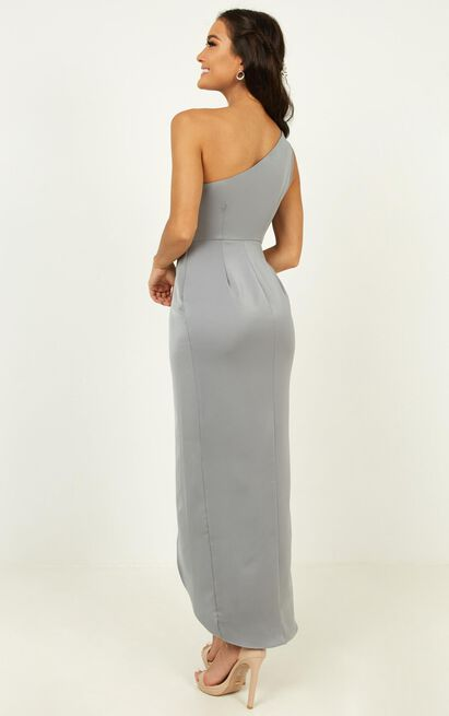 Felt So Happy Dress in dusty blue - 20 (XXXXL), Blue, hi-res image number null