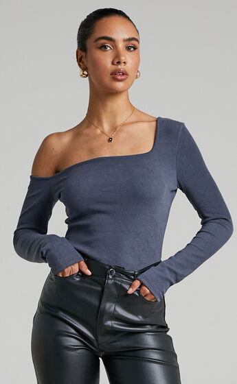 4th & Reckless - Faris Top in slate Blue