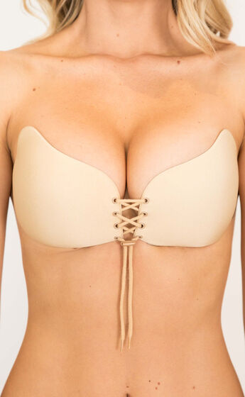 Push Up Stick On Bra Nude in Cream