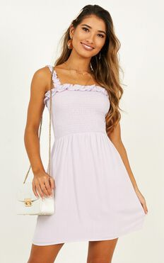 Misfits At Heart Dress In Lilac