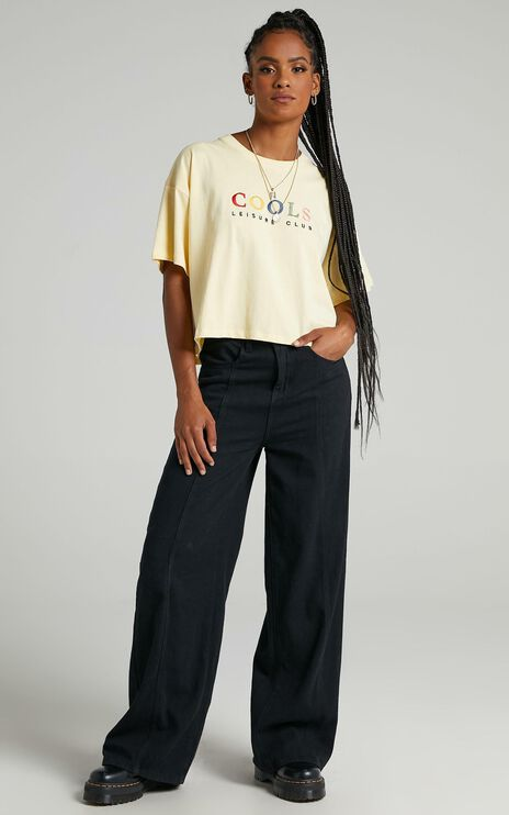 Cools Club - Leisure Club Boxy Tee in Lemon