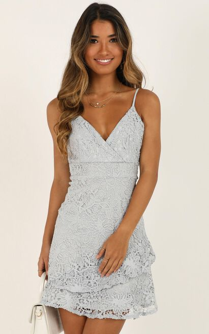 Cryptic Love dress in grey lace - 6 (XS), Grey, hi-res image number null
