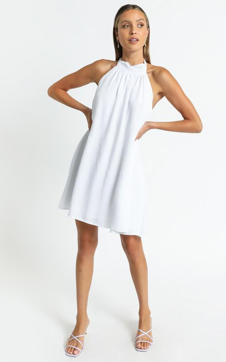 Meredith Dress in White