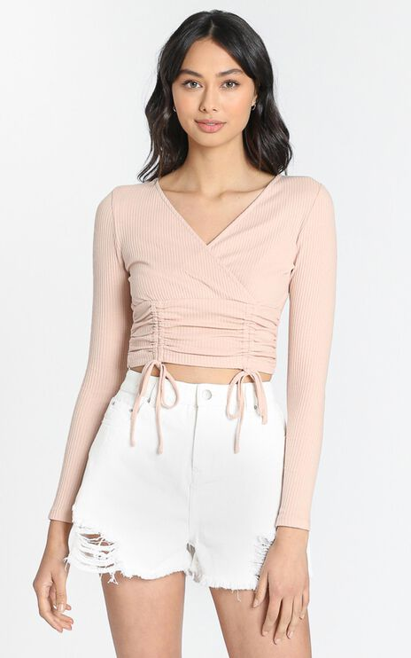Violette Top in Beige