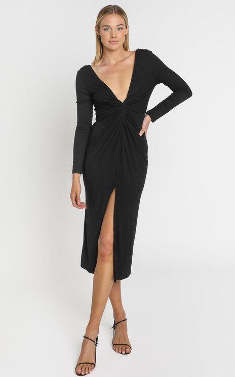Prime Dress in Black Rib