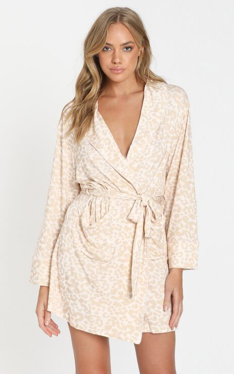 Project REM - Wrap Gown in Leopard