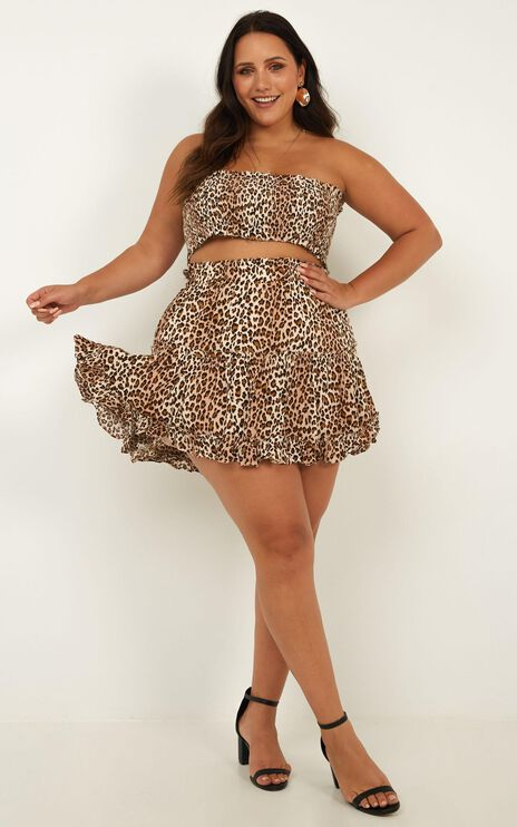 Outside The Line Two Piece Set In Leopard Print