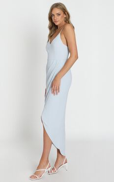 Lucky Day Maxi Dress In Blue