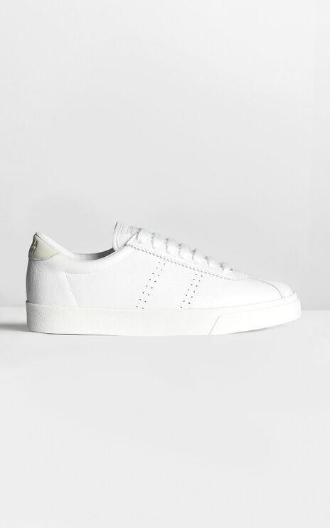 Superga - 2843 Clubs Comfleau In White Leather