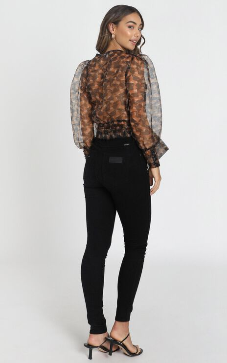 Brylee Top in Black Print