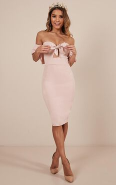 Guest Edit Dress In Blush