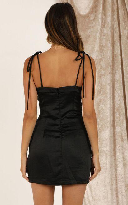 I Feel Pretty Dress in black satin - 20 (XXXXL), Black, hi-res image number null