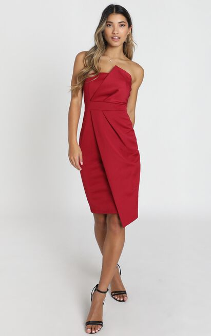 Looking For The Same Thing Dress in wine - 4 (XXS), Wine, hi-res image number null