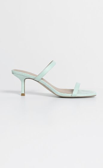 Therapy - Poppin Heels in Mint Suedette