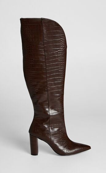 Therapy - Ginny Boots in Chocolate Croc
