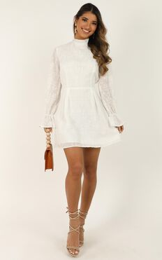Rock Springs Dress In White