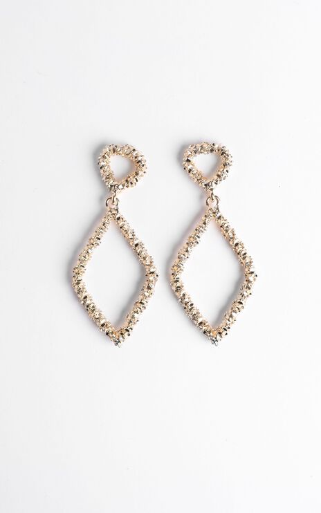 Disco Nights Sparkle Earrings in Gold