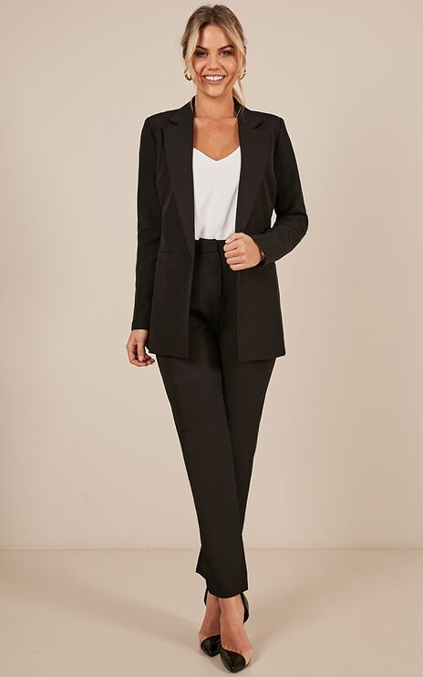 Clever Lady Pants In Black