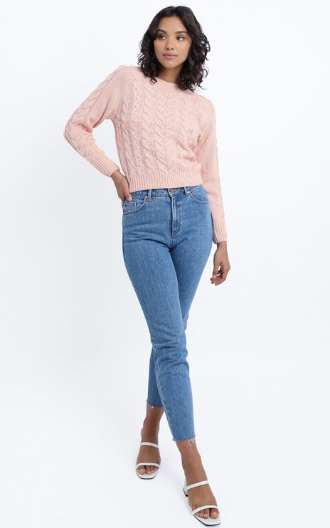Duffy Knit Jumper in Blush