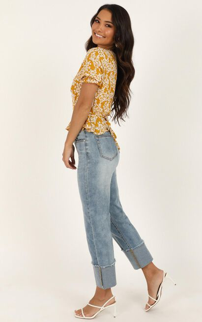 Eva Jeans In mid blue wash denim - 20 (XXXXL), Blue, hi-res image number null