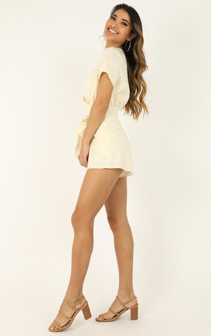 Only In Time Playsuit in beige - 20 (XXXXL), Beige, hi-res image number null