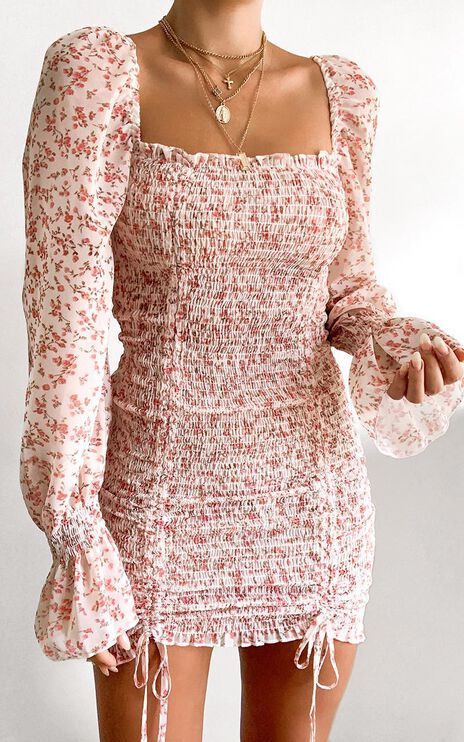 Another Voice Dress in Pink Floral