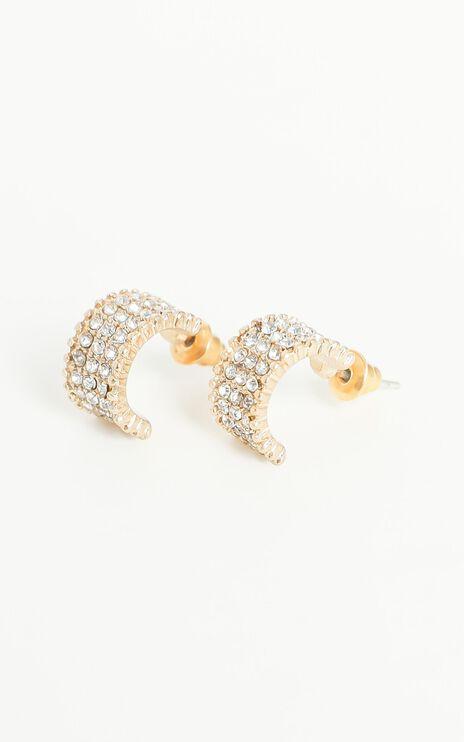 Kleo Hoop Gemstone Earrings in Gold