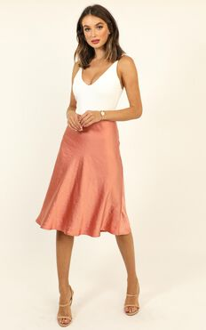 Business Proposal Skirt In Rose Satin
