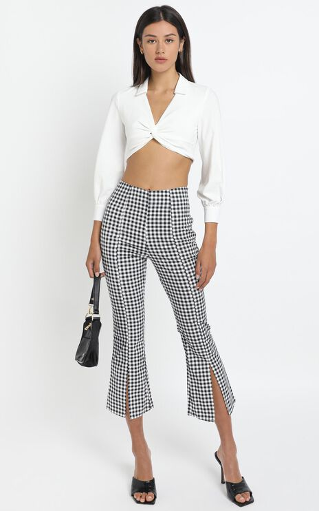 Lincoln Pants in Black Check