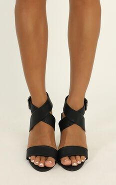 Verali - Beko Heels In Black Lizard