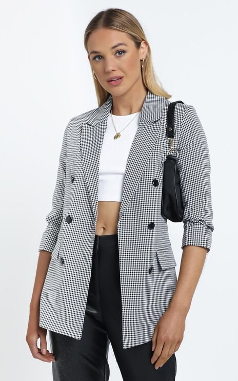 Lowri Blazer in Black Check