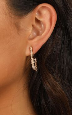 Count On Me Earrings In Gold