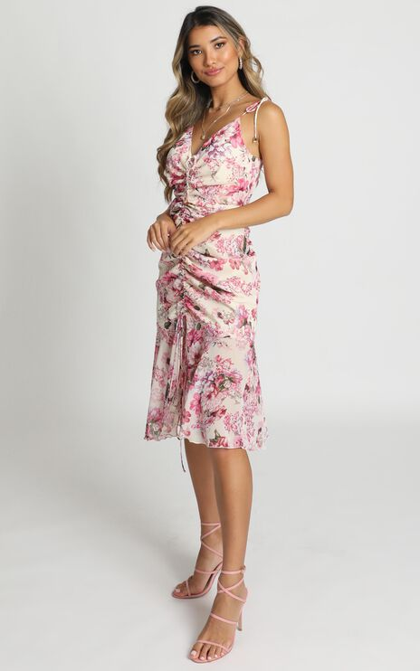 When Im With You Dress in Pink Floral