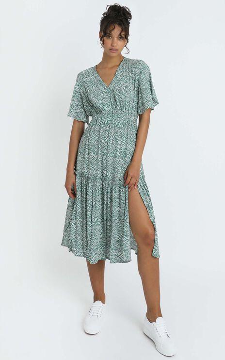 Dai Dress in Green Spot