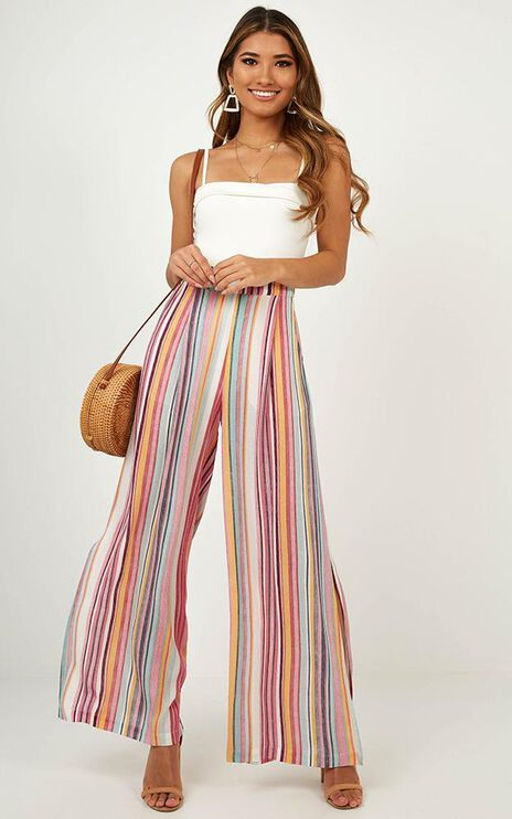 Bewitched Pants In Multi Stripe