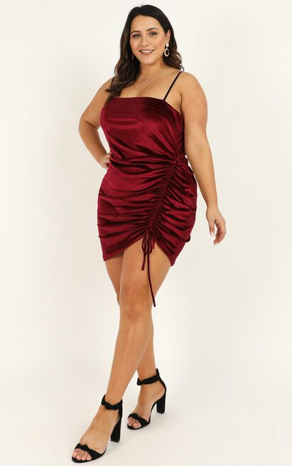 Beyond It Dress in wine velvet - 20 (XXXXL), Wine, hi-res image number null
