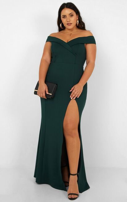One For The Money dress in emerald - 20 (XXXXL), Green, hi-res image number null