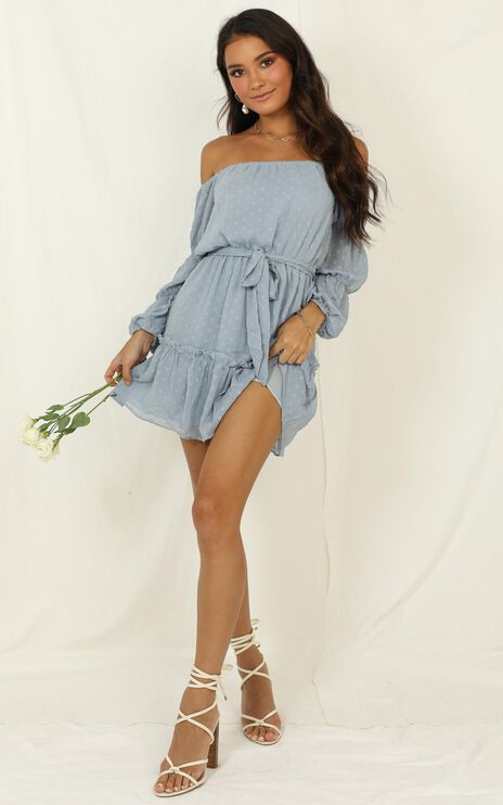 Party Life Dress In Light Blue
