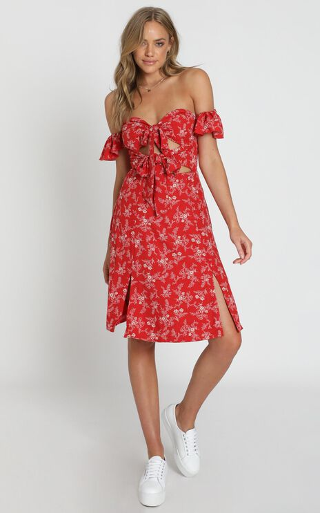Inner Stylist Dress In Red Floral