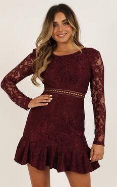 I Belong Dress In Wine Lace