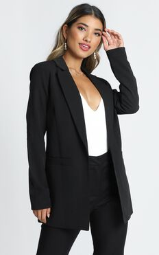 Inquisitive Lady Blazer In Black