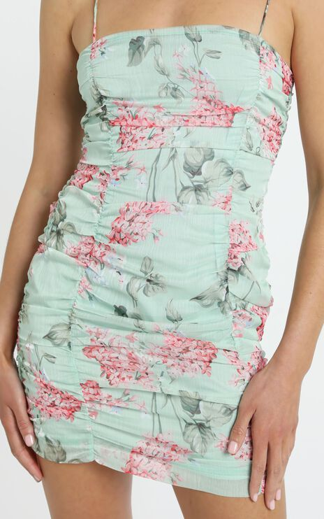 Cody Dress in Green Floral