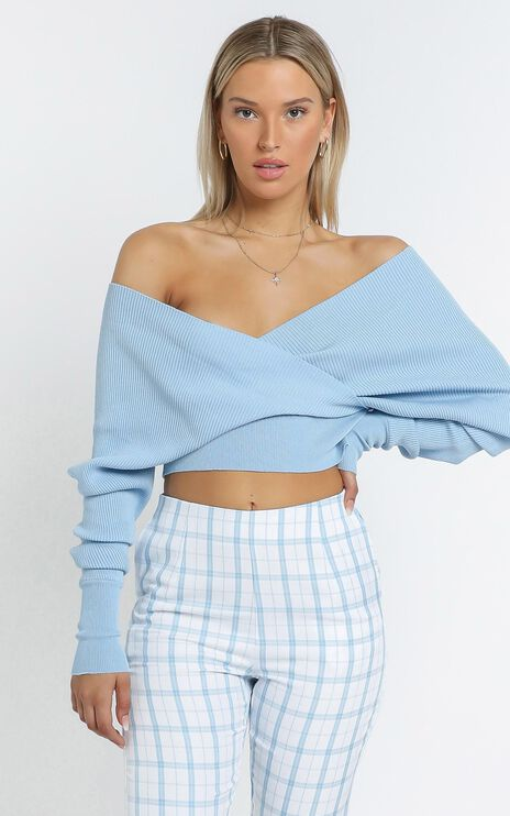Besotted Ribbed Knit in Pastel Blue